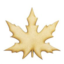 Acer Leaf cut from 3mm MDF, Craft Blanks, Shapes, Tags, Autumn Leaf